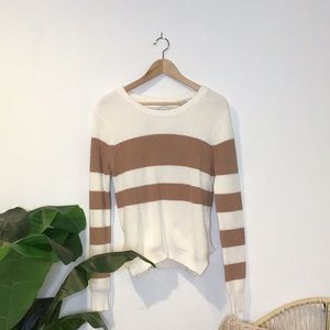 Pink & White Striped Lovers + Friends Sweater!